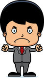 Cartoon Angry Businessperson Boy Royalty Free Stock Images