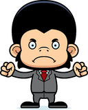 Cartoon Angry Businessperson Chimpanzee Royalty Free Stock Photography