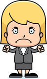 Cartoon Angry Businessperson Girl Stock Photography