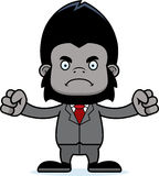 Cartoon Angry Businessperson Gorilla Royalty Free Stock Photos