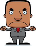 Cartoon Angry Businessperson Man Stock Image