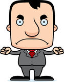 Cartoon Angry Businessperson Man Stock Photos