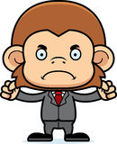 Cartoon Angry Businessperson Monkey Royalty Free Stock Photography