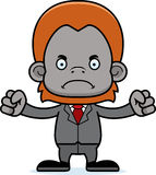 Cartoon Angry Businessperson Orangutan Royalty Free Stock Photography
