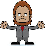 Cartoon Angry Businessperson Sasquatch Stock Image