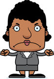 Cartoon Angry Businessperson Woman Royalty Free Stock Photo