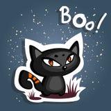 Cartoon angry cat Stock Photos