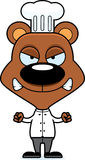 Cartoon Angry Chef Bear Royalty Free Stock Images