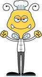 Cartoon Angry Chef Bee Stock Photos