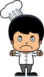 Cartoon Angry Chef Boy Stock Photography