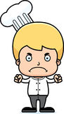 Cartoon Angry Chef Boy Stock Image