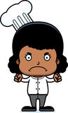 Cartoon Angry Chef Girl Royalty Free Stock Image