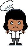 Cartoon Angry Chef Girl Royalty Free Stock Image