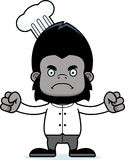 Cartoon Angry Chef Gorilla Stock Photography