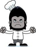 Cartoon Angry Chef Gorilla Stock Photography
