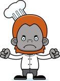 Cartoon Angry Chef Orangutan Royalty Free Stock Photography