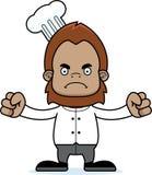 Cartoon Angry Chef Sasquatch Stock Image