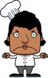 Cartoon Angry Chef Woman Royalty Free Stock Photography