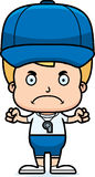 Cartoon Angry Coach Boy Stock Photography