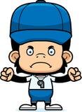 Cartoon Angry Coach Chimpanzee Royalty Free Stock Photos