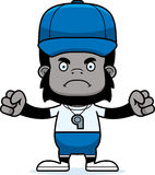 Cartoon Angry Coach Gorilla Royalty Free Stock Images