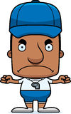 Cartoon Angry Coach Man Stock Images