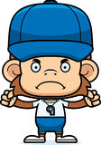 Cartoon Angry Coach Monkey Royalty Free Stock Photos