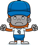 Cartoon Angry Coach Orangutan Stock Images