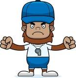 Cartoon Angry Coach Sasquatch Royalty Free Stock Photos