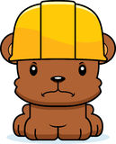 Cartoon Angry Construction Worker Bear. A cartoon construction worker bear looking angry Royalty Free Stock Photo