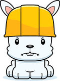 Cartoon Angry Construction Worker Bunny. A cartoon construction worker bunny looking angry Royalty Free Stock Image