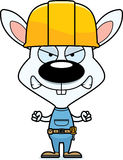 Cartoon Angry Construction Worker Bunny. A cartoon construction worker bunny looking angry Royalty Free Stock Photos