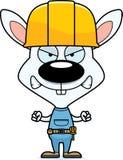 Cartoon Angry Construction Worker Bunny Royalty Free Stock Photos