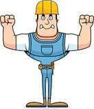 Cartoon Angry Construction Worker. A cartoon construction worker looking angry Stock Photo