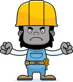 Cartoon Angry Construction Worker Gorilla. A cartoon construction worker gorilla looking angry Royalty Free Stock Image
