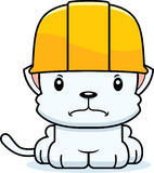 Cartoon Angry Construction Worker Kitten. A cartoon construction worker kitten looking angry Stock Image
