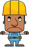 Cartoon Angry Construction Worker Man. A cartoon construction worker man looking angry Stock Photo