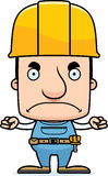 Cartoon Angry Construction Worker Man. A cartoon construction worker man looking angry Royalty Free Stock Photo