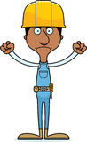 Cartoon Angry Construction Worker Man Royalty Free Stock Image