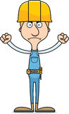 Cartoon Angry Construction Worker Man Royalty Free Stock Images
