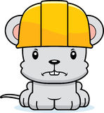 Cartoon Angry Construction Worker Mouse. A cartoon construction worker mouse looking angry Stock Photography
