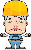 Cartoon Angry Construction Worker Woman. A cartoon construction worker woman looking angry Stock Photography