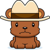 Cartoon Angry Cowboy Bear Royalty Free Stock Photography