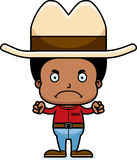 Cartoon Angry Cowboy Boy Royalty Free Stock Photos