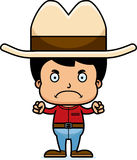 Cartoon Angry Cowboy Boy Stock Images