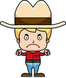 Cartoon Angry Cowboy Boy Royalty Free Stock Images