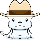 Cartoon Angry Cowboy Kitten Stock Images