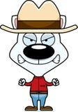 Cartoon Angry Cowboy Kitten Royalty Free Stock Photos