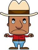 Cartoon Angry Cowboy Man Royalty Free Stock Photos