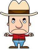 Cartoon Angry Cowboy Man Royalty Free Stock Images